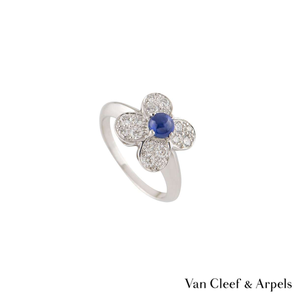 Van Cleef & Arpels White Gold Alhambra Ring
